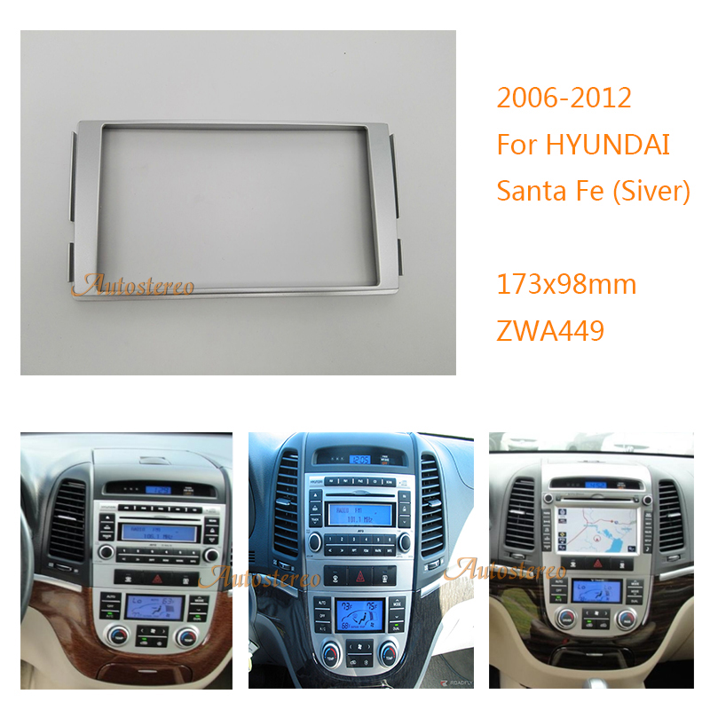 Car Radio Fascia Facia Panel Adapter For Hyundai Santa Fe 2006 2012 Rhaliexpress: Hyundai Santa Fe Radio Bezel At Gmaili.net