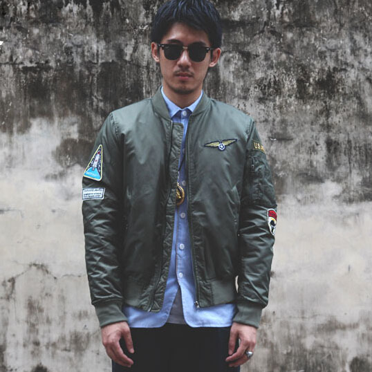 Bomber Jacket Men Vintage Photo Album - Reikian