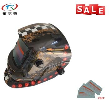 Быстрая доставка Бесплатная Защитная PP лист электросварщик Инструменты Тени 9-13 затемнение сварочный шлем TRQ-HD33 с 2200de