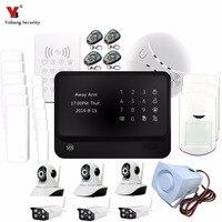 Yobang безопасности Multi Язык сенсорной клавиатурой GSM сигнализация Системы самообороны Камера наблюдения WI FI Главная охранной сигнализации