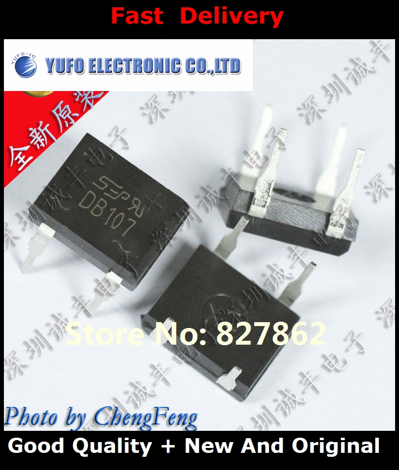 Free Shipping 50PCS DB107G DB107 SEP DIP-4 new original authentic (YF1201)