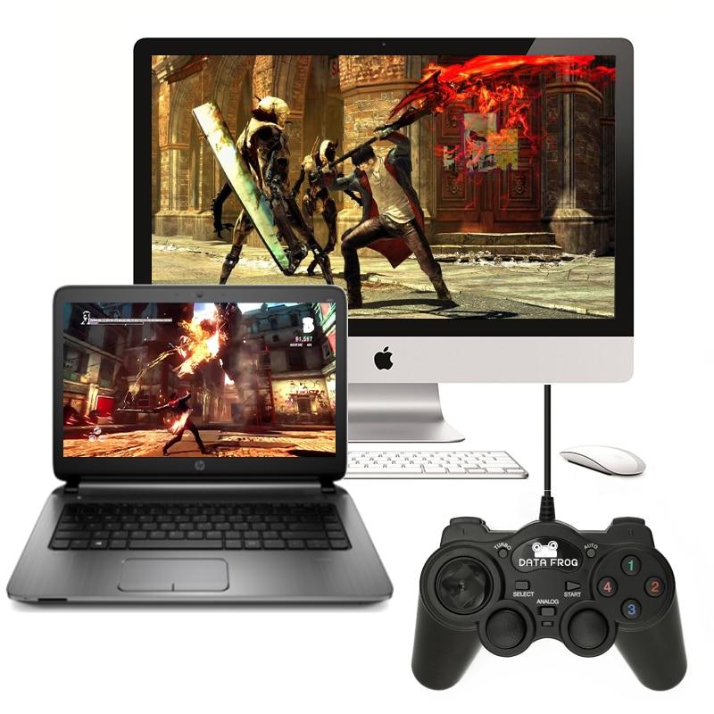 HOT Wired USB 2.0 μαύρο Gamepad Joystick Joypad Gamepad - Παιχνίδια και αξεσουάρ - Φωτογραφία 6