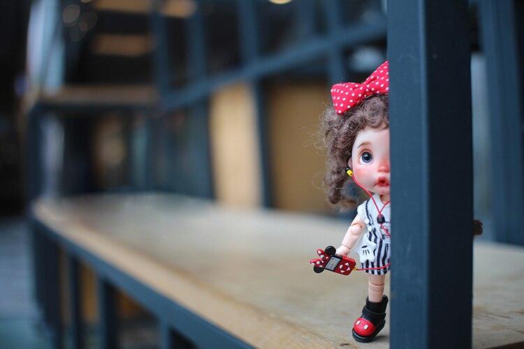2.2 cm longueur moyenne Blyth poupée chaussures longues bottes disponibles pour OB11 cu-poche Middie Blyth poupée accessoires chaussures pour poupées - 3
