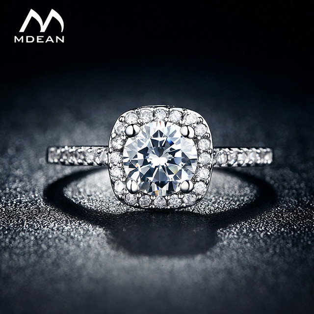 Fabuleux MDEAN anneaux De Mariage pour les femmes Blanc Or Couleur bijoux  IK99