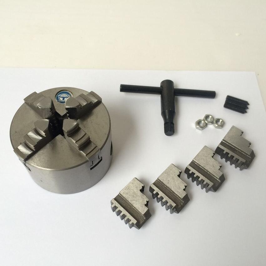 """K12-80 3 """"4 backen selbstzentrierenden chuck 80mm collet drehfutter unabhängige magnetspannplatte"""