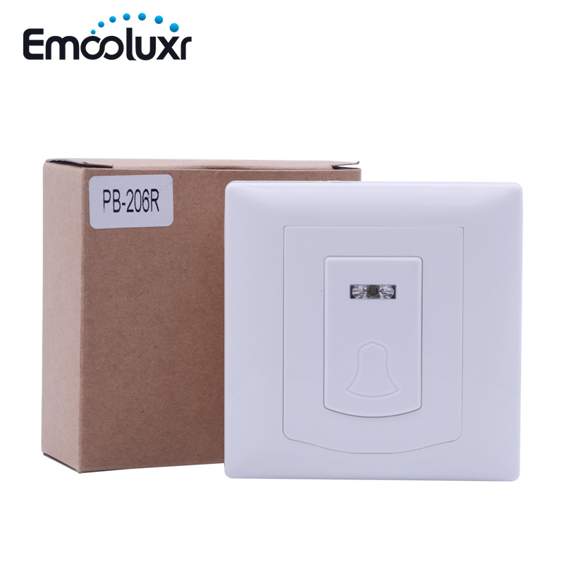 868MHz PB-206R Wireless Doorbell House Entrance Dingdong Bell Work For Focus GSM Alarme C System ST-VGT, ST-IIIB, ST-IV