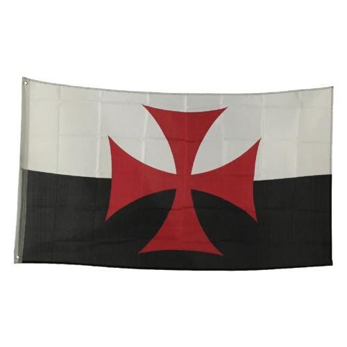 Crusades Flag Banner Decoration Medieval Masonic Mason Templar Cross War