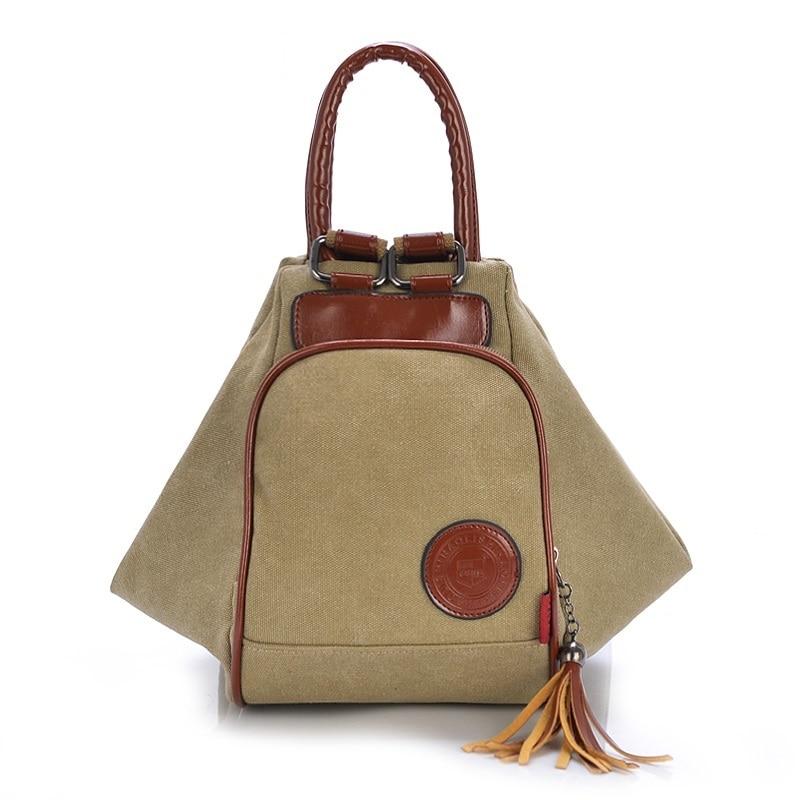 Fashion Backpack Women Canvas Shoulder Bags For Women Diagonal Portable Multi functional Backpack Female Bags Tassel