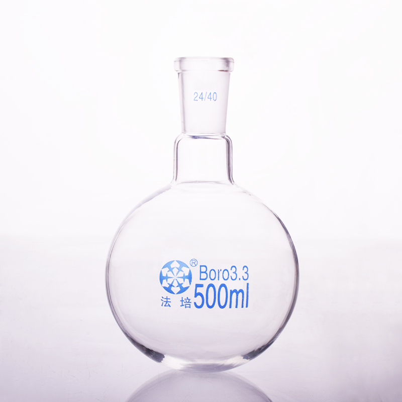 Single standard mouth round-bottomed flask,Capacity 500ml and joint 24/40,Single neck round flask