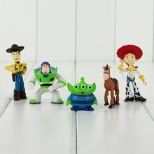 5 unids lote nueva llegada historia lindo juguete 3 Sheriff Woody y Buzz  Lightyear hombre verde PVC figuras de acción colección . 1eee1ef0288