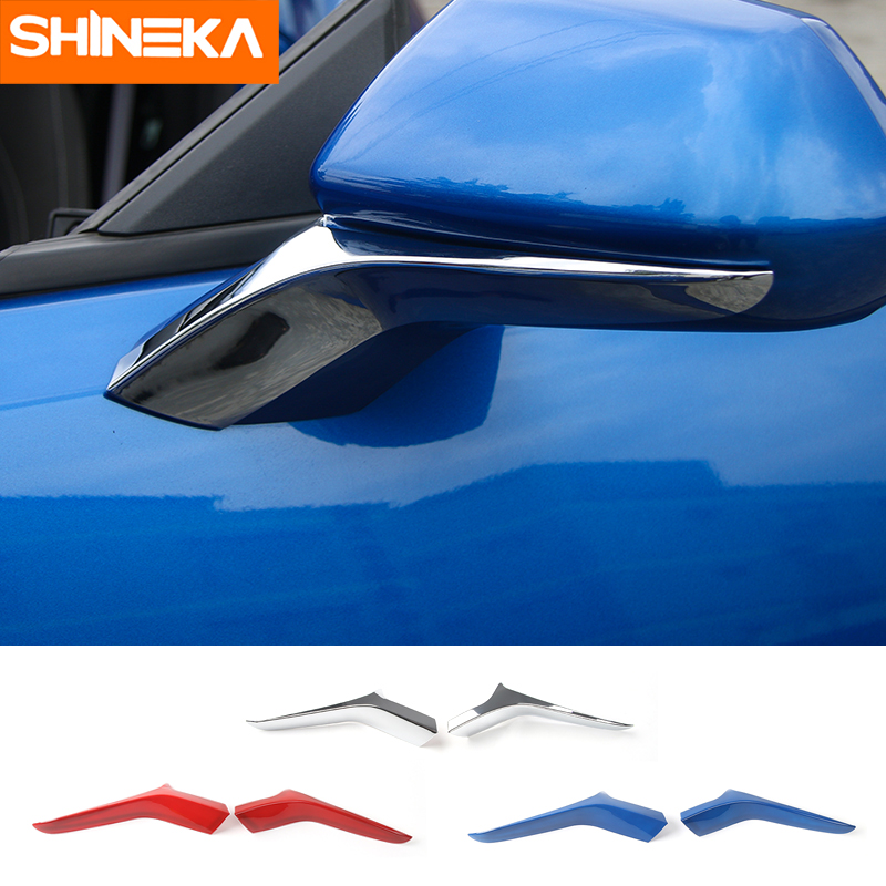SHINEKA ABS Car Styling Side Door Rearview Mirror Trim for Chevy Camaro 2017+ nitro triple chrome plated abs mirror 4 door handle cover combo
