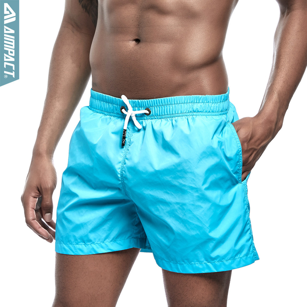 Aimpact Men's   Board     Shorts   Quick Dry Beach   shorts   Summer Surfing Swimming Trunks Male Gym workout fitness Drawstring   Shorts   E303