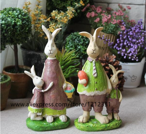 Free shipping,high-19cm,American country to do the old rabbit cute cafe shop home decorations ornaments living room furnishings