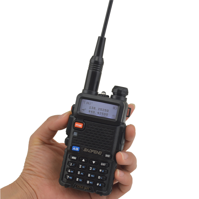 2PCS NEW Tier II BAOFENG DM 5R Dual Band Analog & DMR Digital Tier I & II FM Walkie Talkie with 1pcs USB Programming cable - 2