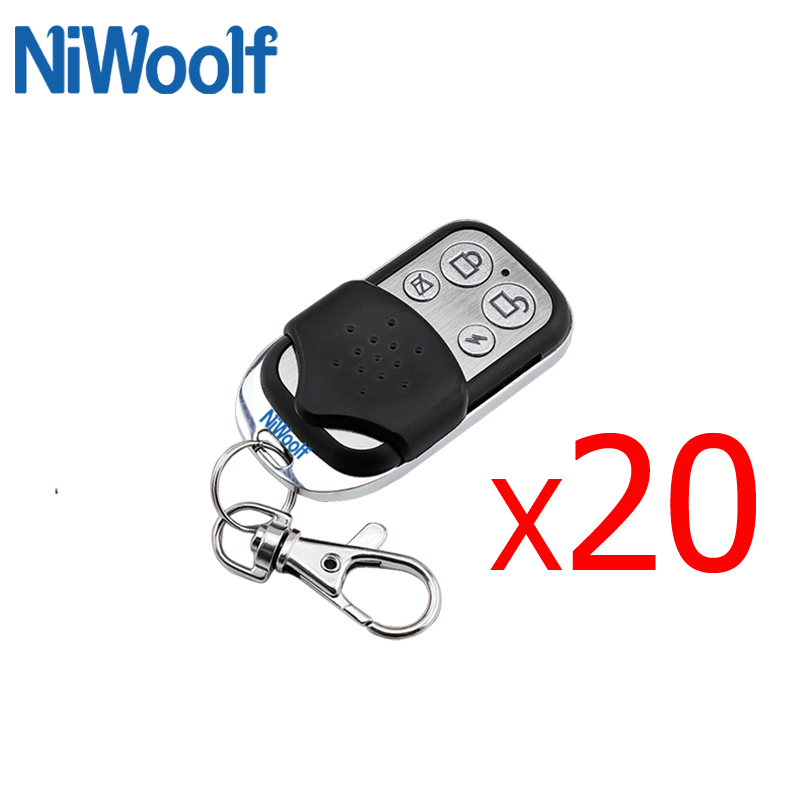 Free Shipping Wireless Metal Remote Controller 433MHz Black Long Work Distance For GSM Alarm System Home