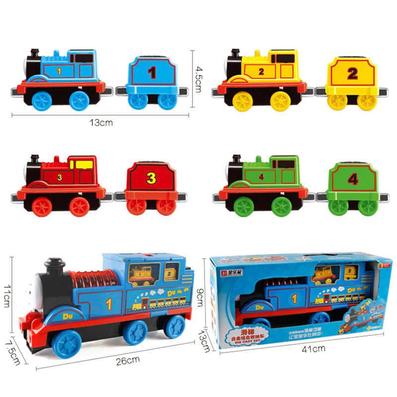 Thomas e amigos diecasts veículos de brinquedo modelo de crianças recipiente caminhão simulação trem carro brinquedo liga magnética menino brinquedo presente