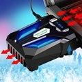 USB Fan Laptop Notebook PC POPU-Pinho C5 Alto Desempenho de Sucção Tipo Refrigerador Ventilador Do Radiador Notebook Jogo Legal EUA plugue
