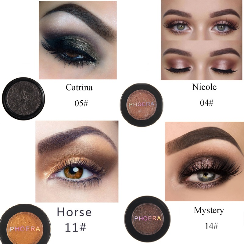 Phoera 24 Colors Waterproof Eye Shadow Cream Pigmented Diamond Glitter Matte Shimmer Powder Cosmetic Kit Eye Makeup Tslm2 Back To Search Resultsbeauty & Health