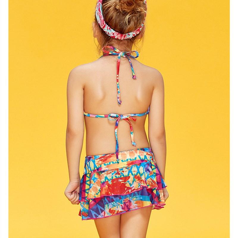 4ad28e80e549e XARKE Girls Bikini Skirt Swimsuit for Girls Halter Strap Bikinis Cute  Children Swimming Suit Pool Beach Kids Swimwear 3 12T-in Bikinis Set from  Sports ...