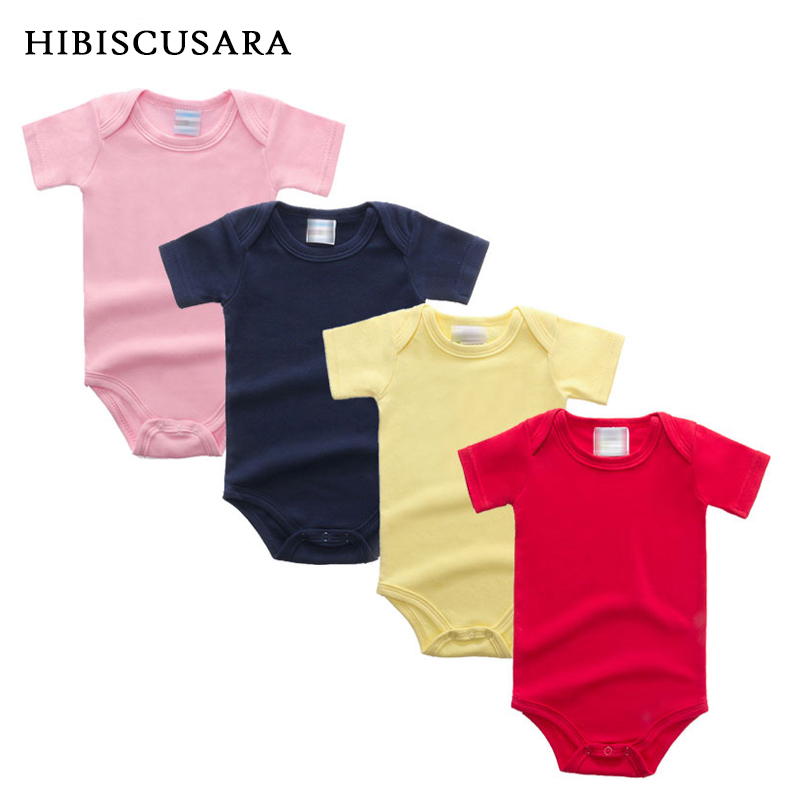 SALE Unisex Baby Rompers Short Sleeve Cotton O-Neck 0-12M Newborn Boys&Girls Roupas Top Quality Bebe Summer Clothes