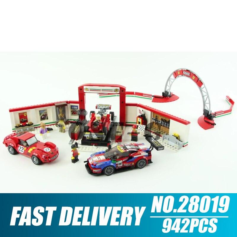 Building blocks 28019 Compatible with technic 75889 Bricks Ferrari Ultimate Garage figures Educational toys for children