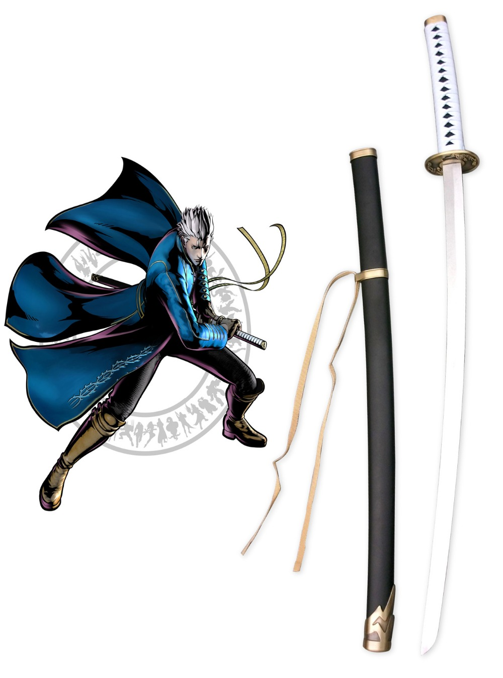 Free Shipping Devil May Cry 3: Dante's Awakening Vergil Yamato Cosplay Weapons халаты банные sis халат банный