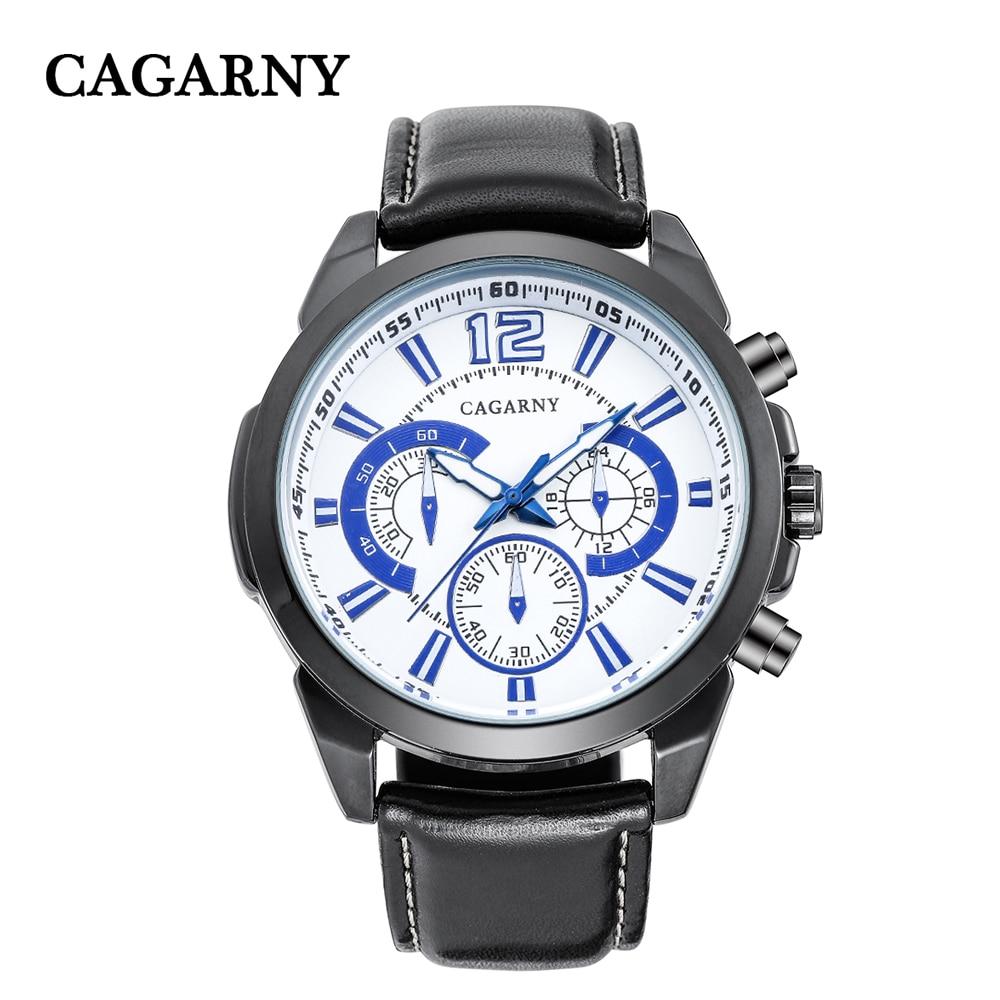 quartz wristwatches leather strap sports watches casual mens wrist watch black case (7)