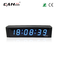 Ganxin New Design Led Interval Stopwatch Digital Clock With Multi Color