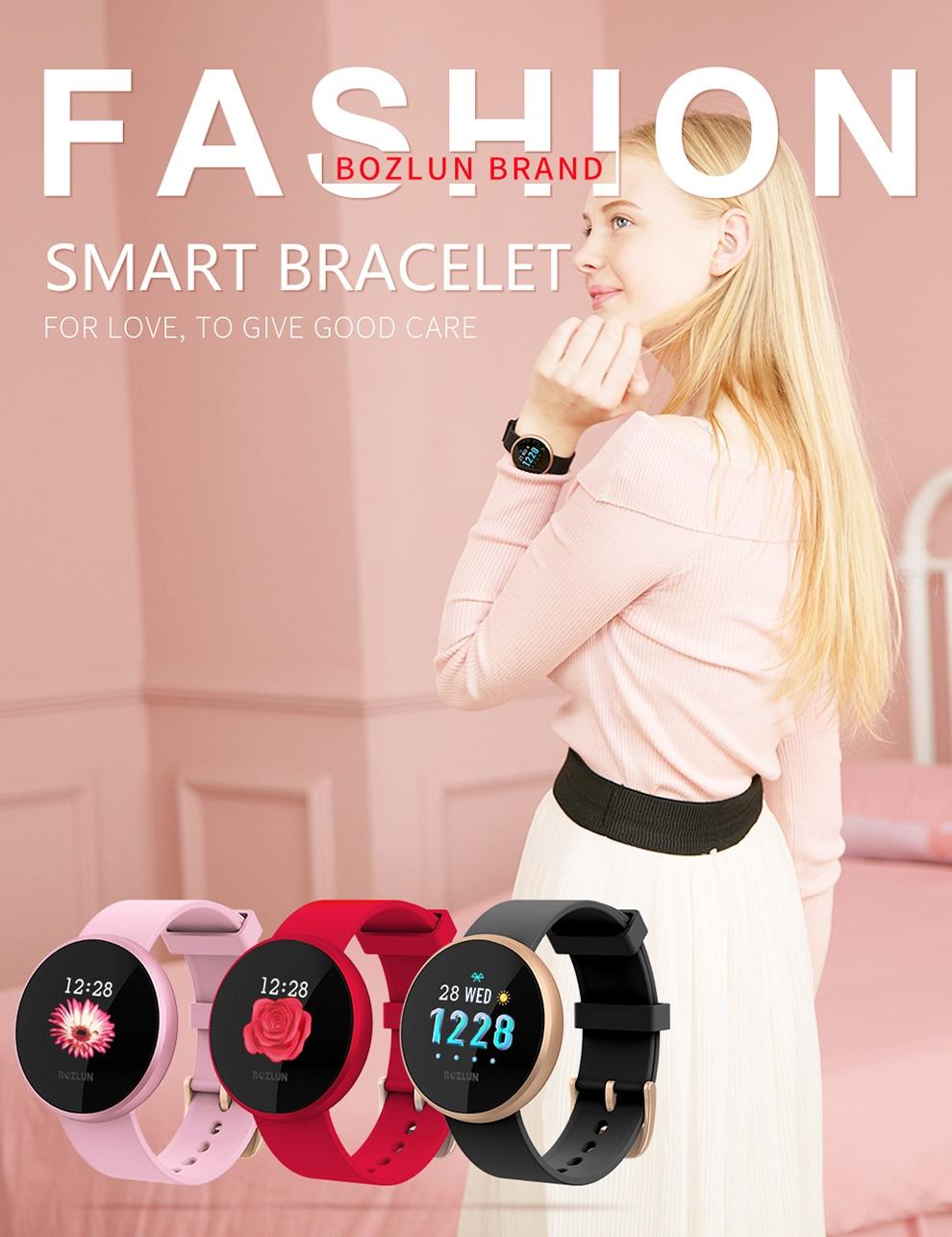 Bozlun Fashion Women Smart Digital Watch Female