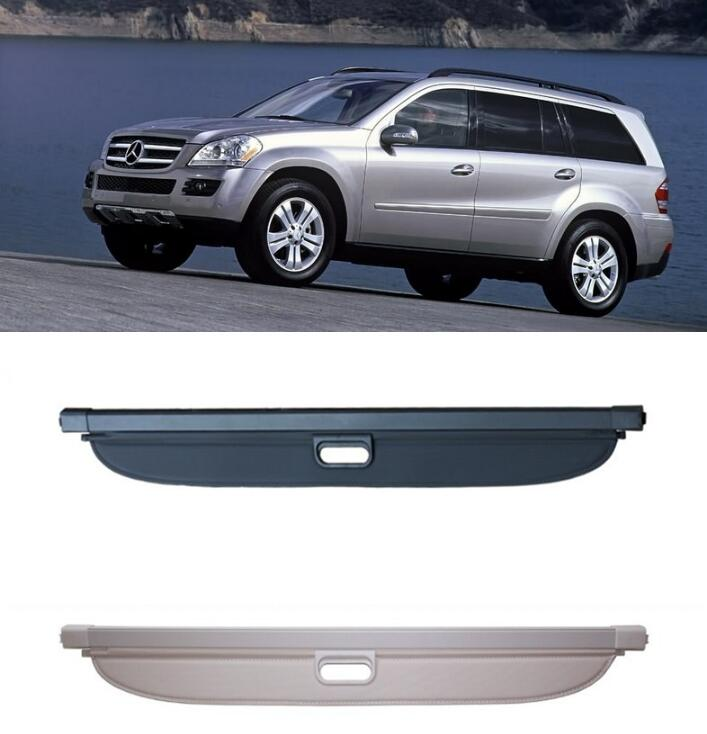 Car Rear Trunk Security Shield Shade Cargo Cover For Benz GL Class W164 GL350 GL400 GL450 2006 2007 2008 2009 2010 2011 2012 car rear trunk security shield shade cargo cover for toyota highlander 2009 2010 2011 2012 2013 2014 2015 2016 2017 black beige