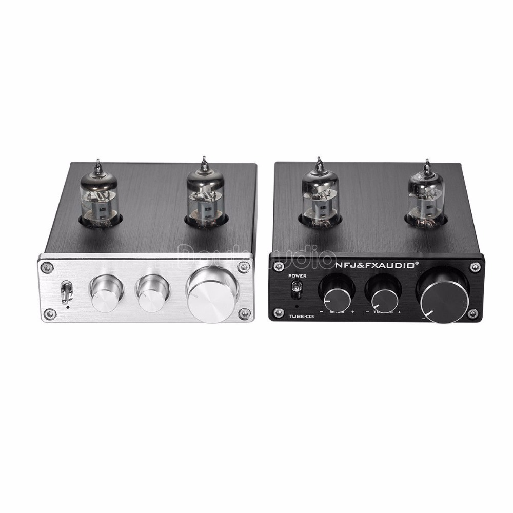 2018 Latest Nobsound Mini TUBE-03 Mini 6J1 Vacuum Tube Preamplifier Hi-Fi Stereo PreAmp With Treble & Bass & Volume Control цены онлайн