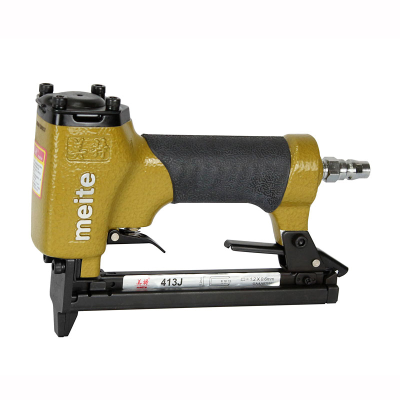 Quality meite 413J U-type Pneumatic Nail Gun Air Stapler Gun Nailer Tools 6-13mm Suit for Small Woodworking / Crafts nail gun for width 10mm code nail 10 22mm u air stapler u nail pneumatic air nail gun 0 6mm nial diameter 8mm pu pipe