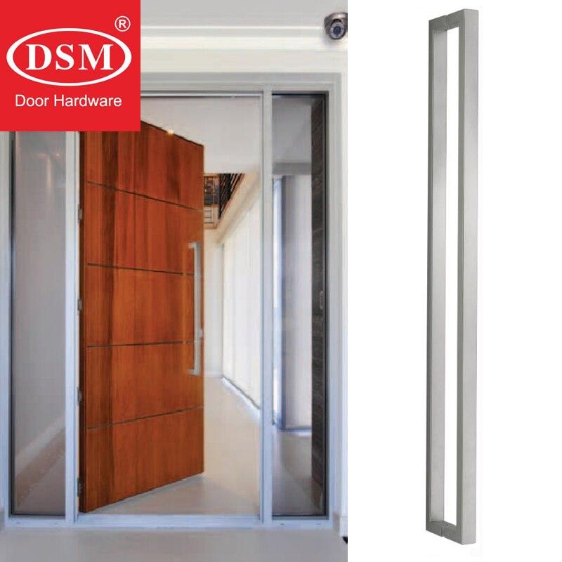 Poignée de porte d'entrée Durable en acier inoxydable brossé pour portes en verre, en bois et en métal PA-130-38 * 25*1200mm