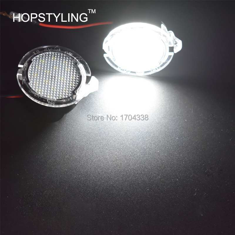 Hopstyling 2x для светодио дный Ford LED под зеркалом лужа свет F-150 EDGE Explorer Mondeo Taurus S-Max светодио дный задняя зеркальная лампа для стайлинга автомобилей