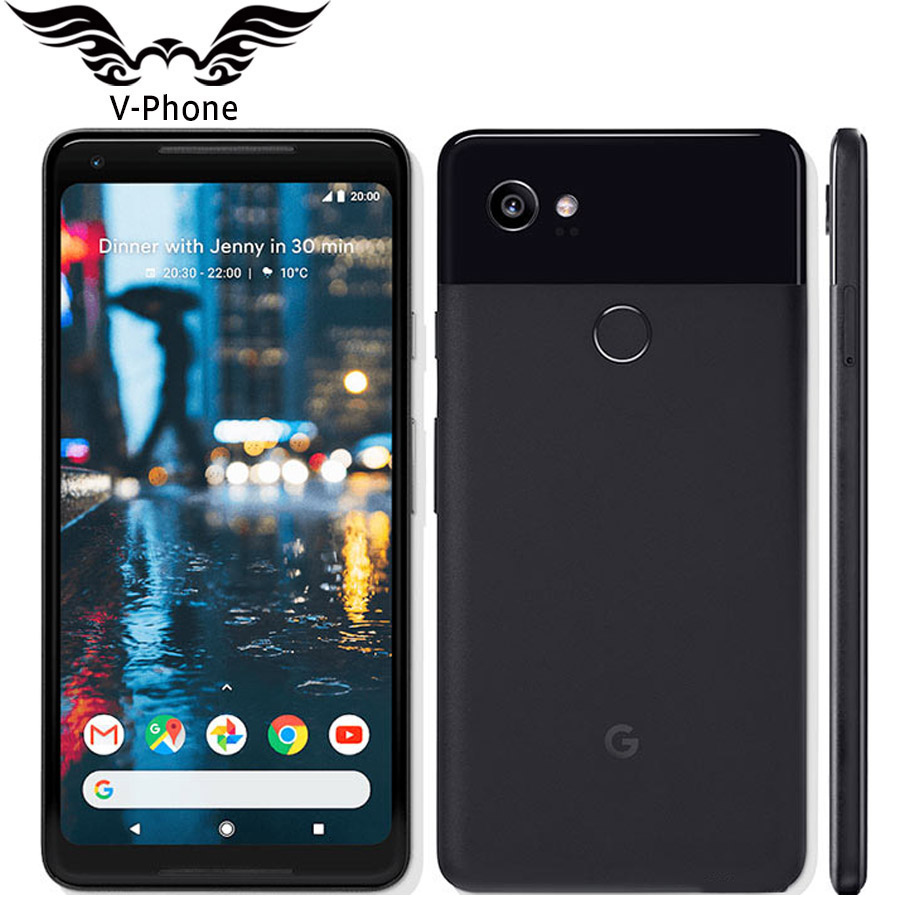 Original US Version Google Pixel 2 XL Android Mobile Téléphone 6 Snapdragon 835 Octa Core 4g LTE 4 gb RAM 64 gb 128 gb ROM D'empreintes Digitales