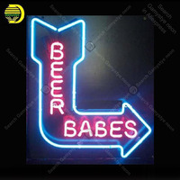 Beer Babes Light Real Glass NEON Signs Lamp GLASS Tube Affiche Decor Shop Window Handcraft Publicidad anuncio luminoso Dropship