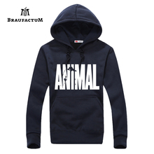 Men's Sport Hoodies Running Yoga Shirts With Hat Basketball Jogging Animal Hoody Fitness Tank Long Sleeves Gym Tops Plus Size