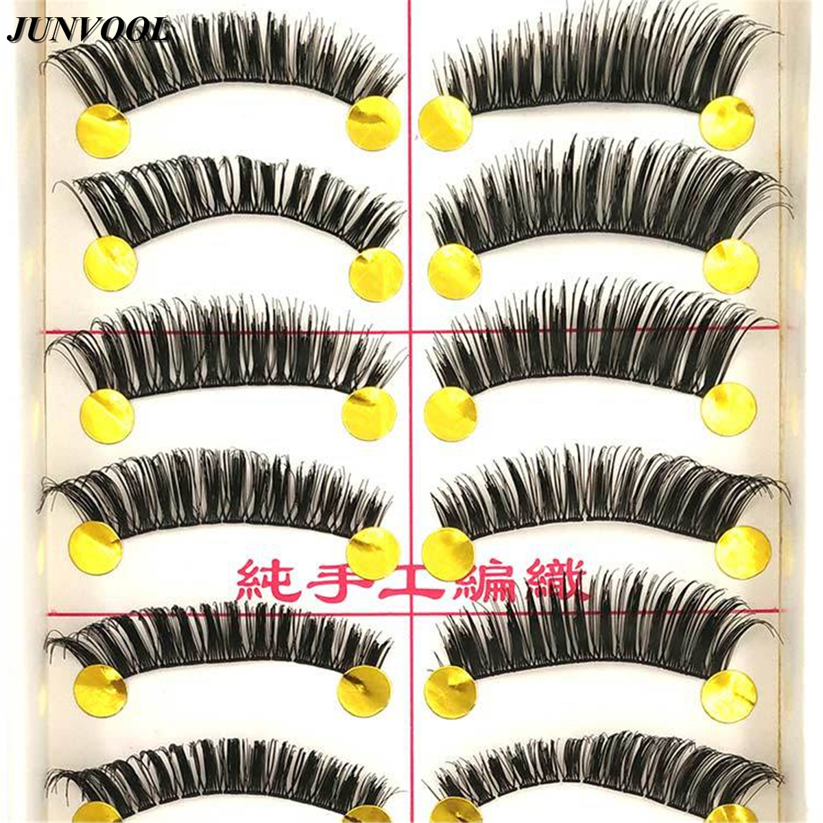 Charming Eye Lashes Beauty 60 Pairs New Natural Long Thick Black False Eyelashes Thick Fake Eye Lashes Makeup Tips High Quality