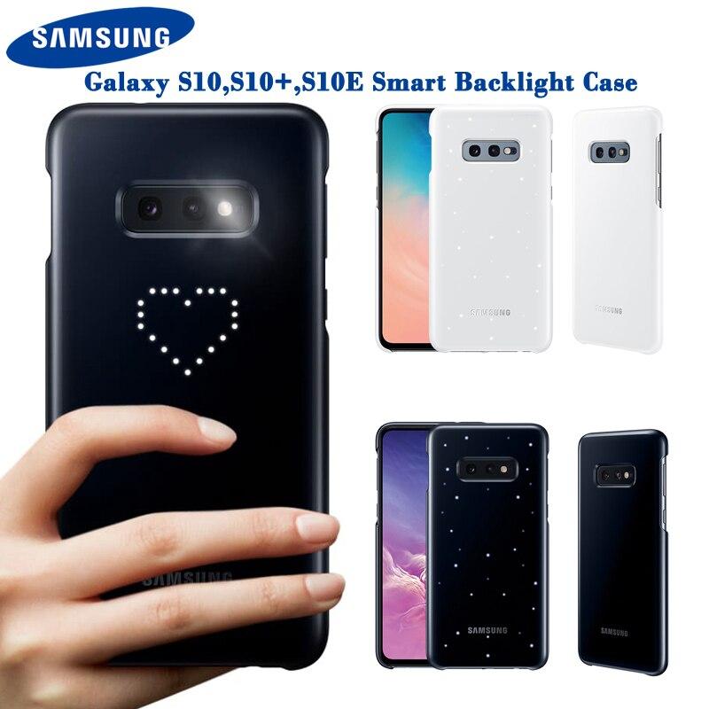 Housse d'origine Samsung LED pour Samsung Galaxy S10Plus S10E S10 S10 Plus SM-G9730 SM-G9750 G9750 effet de lumière émotionnel LED