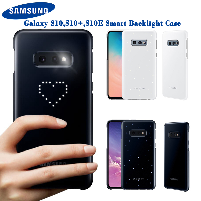 Original <font><b>Samsung</b></font> <font><b>LED</b></font> Cover For <font><b>Samsung</b></font> Galaxy S10Plus S10E <font><b>S10</b></font> <font><b>S10</b></font> Plus SM-G9730 SM-G9750 G9750 Emotional <font><b>Led</b></font> Lighting Effect image