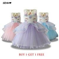 Fancy Kids Girls Tutu Tulle Unicorn Dress Embroidery Flower Baby Girl Princess Party Dresses Unicorn Costumes