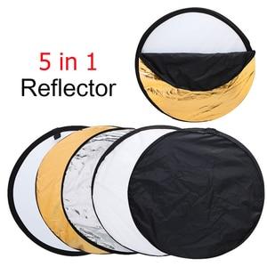 """Image 2 - 80 cm 31 """"5 in 1 Reflector Fotografia Ronde Flash Photo Studio opvouwbare light reflector Goud Zilver Wit Zwart doorschijnend"""
