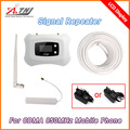 2016 Nueva Actualización LCD 850 mhz Mini GSM 2g 3g móvil de la señal gsm 3g repetidor celular amplificador de señal de teléfono celular de refuerzo 3G kit