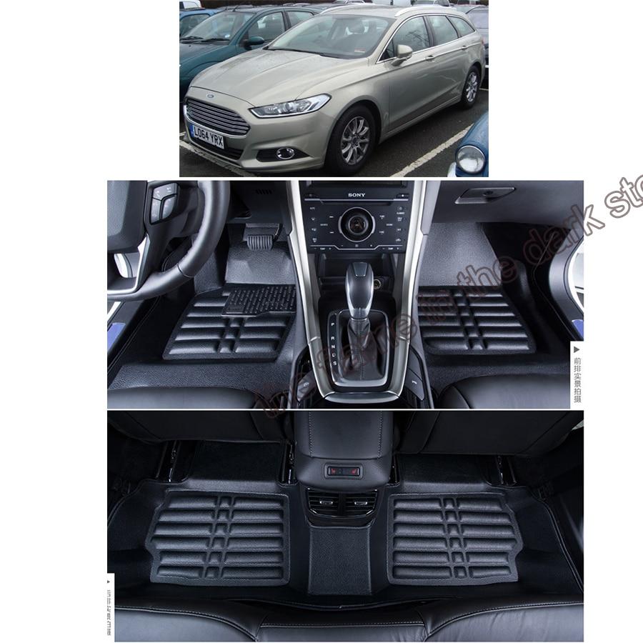Livraison gratuite tapis de sol en cuir pour voiture tapis pour Ford Mondeo Mk 5 ford fusion 2014 2015 2016 2017 2018 2019