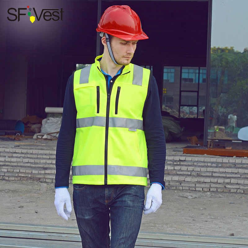 SFVEST HI VIS GILET REFLECTIVE WAISTCOAT ELASTIC OXFORD TAPES MOTORCYCLE VEST WITH ID POCKETS MENS FREE DELIVERY