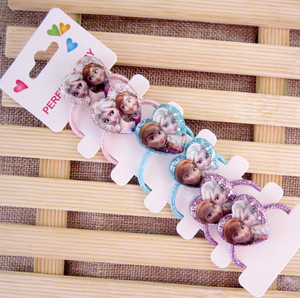 Заколка для волос с героями мультфильмов, 6 шт., заколка для волос с героями мультфильмов «Холодное сердце», «Эльза», веревка для головы, подарок на день рождения, аксессуары для кукол, головные уборы, косметическая игрушка