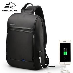 Image 3 - KINGSONS 2019 yeni öğe erkek kadın moda Laptop sırt çantası iş rahat seyahat sırt çantası omuz çantası okul çantası küçük