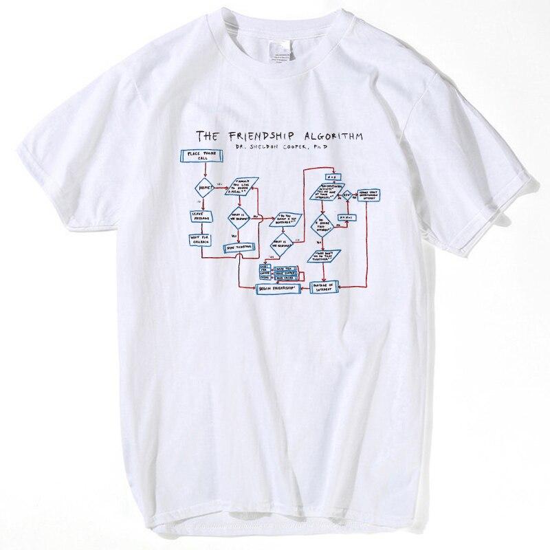 Freundschaft Algorithmus T-shirts Männer Sommer Kurzarm T-shirts Jungen Geeks The Big Bang Theory t-shirts Mann und frauen hemd