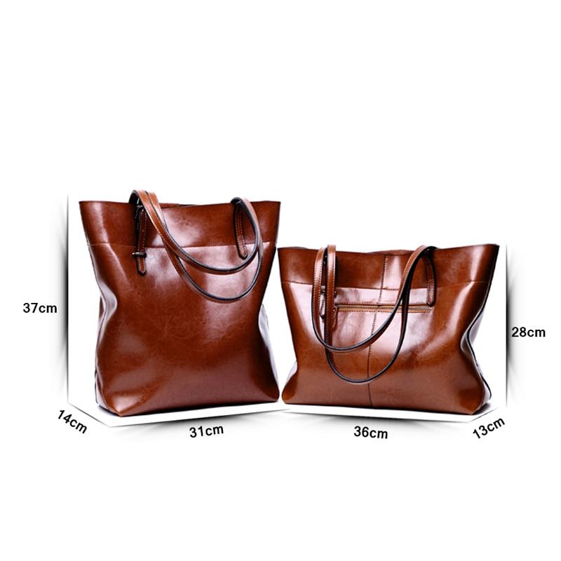 Bolso Retro brillante de cuero genuino para mujer, bolso de lujo, bolso de cuero de diseñador, bolso de hombro para mujer, bolso Casual-in Cubos from Maletas y bolsas    2