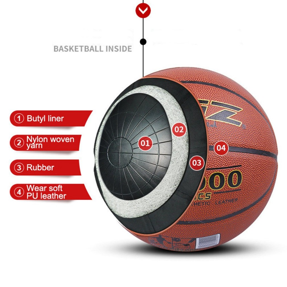 22da62d167a REIZ TF 1000 Official Size 6 Synthetic Leather Rubber Basketball ...